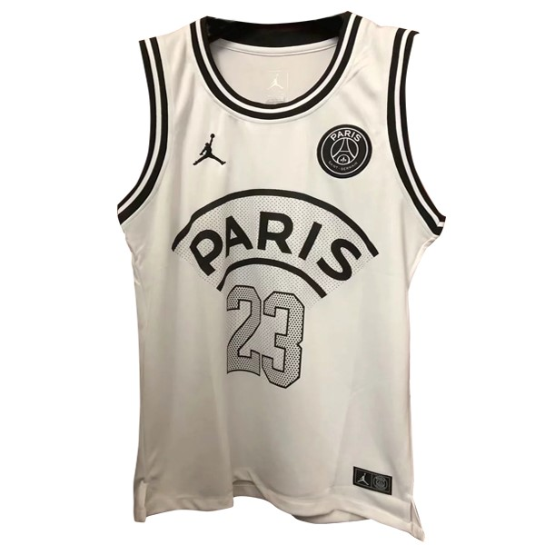 JORDAN Camiseta Paris Saint Germain NO.23 Sin Mangas 2018/2019 Blanco